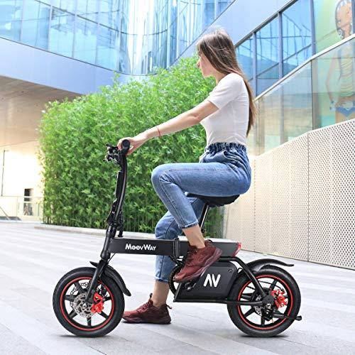 """Windgoo Bicicleta Eléctrica Plegables, 350W Motor Bicicleta Plegable 25 km/h y 25 km, Bici Electricas Adulto con Ruedas de 14"""", Batería 36V 6.0Ah, Asiento Ajustable, con Pedales (B20-grey)"""