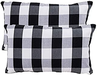 "ATOOTFUSION Black Hosiery Medium Hard Cotton Bed Pillow for Real Perfect Neck Support (16"" x 26"") Medium Hard Pillow Set o..."
