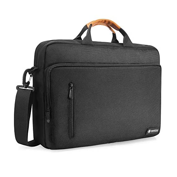 """tomtoc 13.5 Inch Laptop Shoulder Bag for 13-inch MacBook Pro, MacBook Air, Surface Book, Surface Laptop, Multi… 1 Compatibility: External dimensions- 14.17"""" x 10.43"""" x 2.76""""; Universal fit 13-inch MacBook Pro, MacBook Air, 12.9"""" iPad Pro, Microsoft Surface Book, Surface Laptop, Dell XPS 13, and more 13-inch laptops ultrabooks chrome books Ultra Protection: tomtoc laptop shoulder bag features protective padding at the bottom of the individual laptop compartmentand ultra-thick, yet lightweight protective cushioning to ensure your laptop will remain safe from drops, bumps, dents, scratches and spills, like the car airbag Well-organized: The main compartment features a laptop slot and a tablet slot for up to 11"""" iPad Pro with smart case & keyboard. Two front pockets With small and large pockets, and multiple elastic bands to make it easier than ever to organize accessories such as charger, cable, mouse, hub etc."""