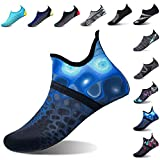 L-RUN Mens Water Swim Shoes Barefoot Aqua Socks Blue...