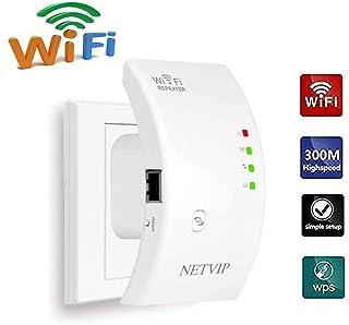NETVIP WiFi 無線LAN中継器 Wifiブースター信号増幅器 Wi-Fiレンジエクステンダ リピータ/AP 2モード 2.4GHz 300Mbpsに対応高利得安定した通信直挿しモデル