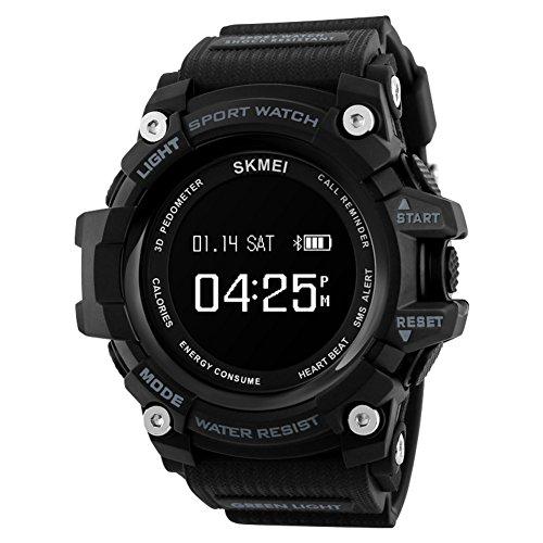 Smartwatch, [Beweging] Running Chronograaf [Waterdicht] Multifunctionele Digitale Horloges-A