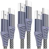 USB Type C ケーブル OULUOQI ナイロン編み タイプ C 充電ケーブル USB 2.0 急速充電 ケーブル Macbook、iPad Pro、Google、Samsung、Sony、LG、その他 Android 等Type C 機器対応