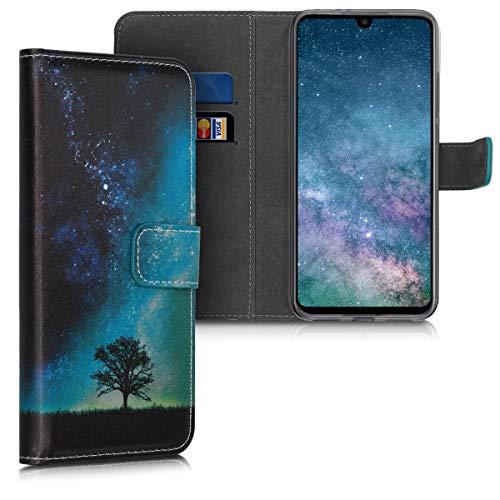 kwmobile Funda Compatible con Xiaomi Redmi Note 7 / Note 7 Pro - Carcasa de Cuero sintético árbol y Estrellas - con Tarjetero