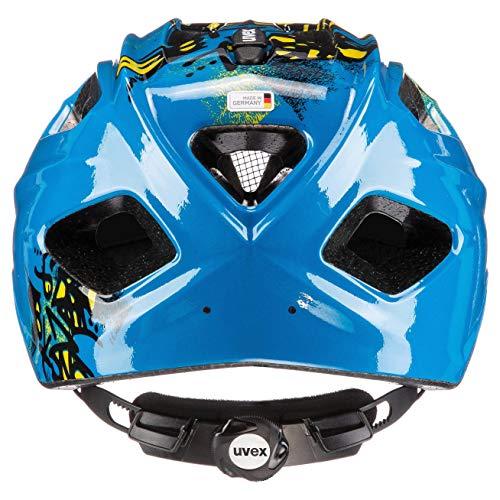 uvex Unisex Jugend Quatro junior Fahrradhelm, Blue Yellow, 50-55 cm - 3