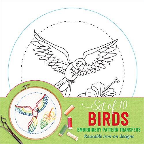 Birds Embroidery Pattern Transfers (set of 10 hoop designs!)