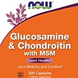 Now Glucosamine & Chondroitin with MSM, 300 Capsules, Joint Health Supplement
