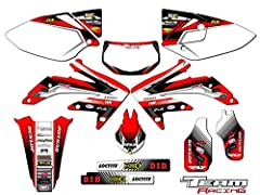 Compatible with Honda 2005-2007 CRF 450X. The set includes stickers for- Rad scops and gas tank, front and rear fenders, swingarms, forks, and airboxes on most models. 16 Mils thick with highly aggressive adhesive! Dirt bike is not included. Plastics...
