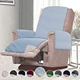 RHF Reversible Oversized Recliner Cover & Oversized Recliner Covers,Slipcovers for Recliner, Oversized Chair Covers,Pet Cover for Recliner,Machine Washable(XRecliner:Oversized: Light Blue/Cream)