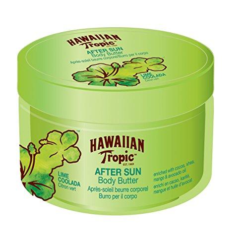 Hawaiian Tropic After Sun Body Butter Lime Coolada - Manteca Corporal After Sun con aroma Lima Colada, fórmula hipoalergénica de hidratación intensa - 200 ml