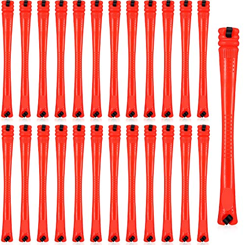 84 Pieces Hair Perm Rods Hair Curling Rollers Perming Rods Curlers Cold Wave Rods for Hairdressing Styling Tools (Red,0.2 Inch)