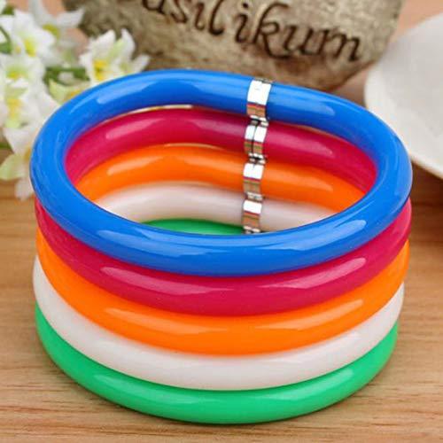 osyare 10 brazaletes de color caramelo con forma de bolígrafo creativa de bolígrafo, papelería, oficina, suministros escolares, multicolor