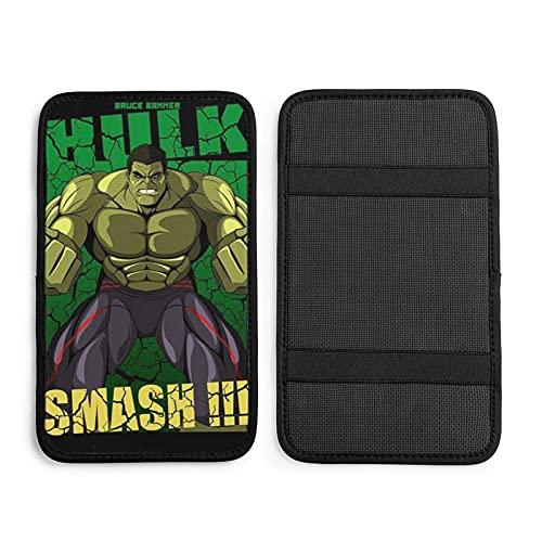 Smash Hulk - Cojín universal para reposabrazos de coche, cubierta para consola central de coche, protector de caja de pasamanos suave, decoración de coches, accesorios
