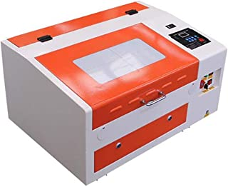 TEN-HIGH CO2 Engraving Machine, 40W 300x400mm Laser Engraving Machine with Exhaust Fan USB Port, Orange-White Version.