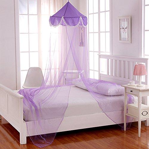 Cotton Loft Pom Kids - Toldo Plegable para Cama de Matrimonio, Talla única, Color Morado