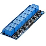 AZDelivery Rele Modulo de 8 canales 5V con optoacoplador Low-Level-Trigger para Arduino con...