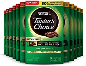 Nescafe Taster's Choice Decaf Instant Coffee, House Blend (Pack of 12)