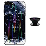 Star Wars Darth Vader Case for iPhone 8 Plus 7 Plus Protective Case Aurora Color Soft TPU Compatible iPhone 8 Plus Cover with Phone Holder Bracket