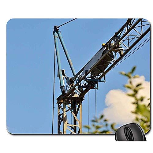 Anti Rutsch Gaming Mausepad,Pad Maus Unterlage,Gummiunterseite Mausmatte,Crane Baukran Load Crane Kranarm-Hebebühne Für 3 Bürocomputer,Glattes Mousemat,30X25Cm