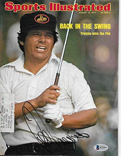 Lee Trevino Autographed Golf Sports Illustrated 8/19/74 Beckett Authenticated - Autographed Golf Equipment