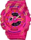 CASIO Damen Analog-Digital Quarz Smart Watch Armbanduhr mit Plastik Armband BA-110TX-4AER