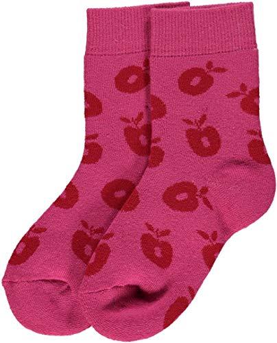 Smafolk Socken Rosa mit Äpfeln Größe 35-38