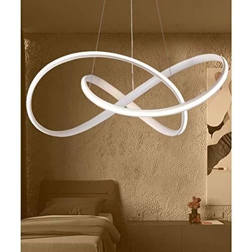 KBEST Lámpara Colgante LED, Luz Moderna Colgante de Techo LED 38W con Luz Ajustable(3000-6500K) y...