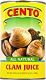 Cento All Natural Clam Juice, 46 Fl Oz (Pack of 12)