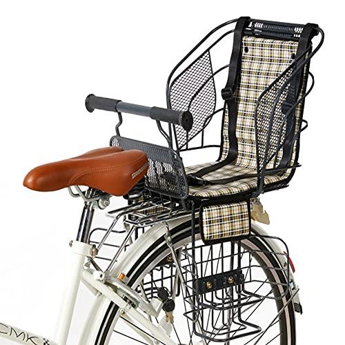 GJXJY Asiento Infantil para Bicicleta, Sólido y Fiable Asiento Trasero para Bicicleta para Niños de hasta 30 Kg, de 2 a 5 Años