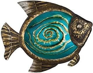 Regal Art &Gift Bronze Fish Wall Decor, 17-Inch