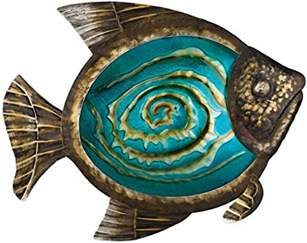 Regal Art Gift Bronze Fish Wall Decor 17 Inch