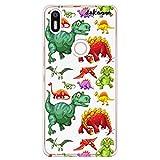 dakanna Funda Compatible con [ Bq Aquaris X5 Plus ] de Silicona Flexible, Dibujo Diseño [ Patrón de Dinosaurio ], Color [Fondo Transparente] Carcasa Case Cover de Gel TPU para Smartphone
