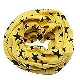Inverno Primavera Baby Boy Girl Sciarpa a cinque punte Star Scialle per bambini Sciarpe di cotone O Ring bambini fazzoletto da collo (Color : Yellow)