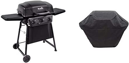 Char-Broil Classic 360 3-Burner Gas Grill with Char-Broil 3-4 Burner Large Rip-Stop Grill Cover