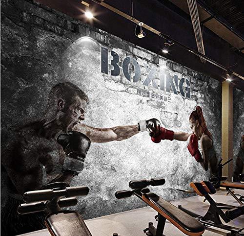 Custom Any Size Mural Wallpaper 3D Resumen Boxeo Gimnasio Belleza Chico Wallpaper...