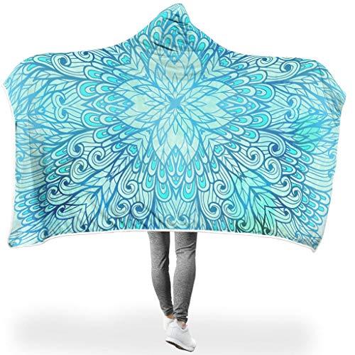 O2ECH-8 Fledermuizendeken, groene magie, mandela-thema's, bedrukt, lichtgewicht, comfortabel, deken, amandela-kunst, reus voor televisie