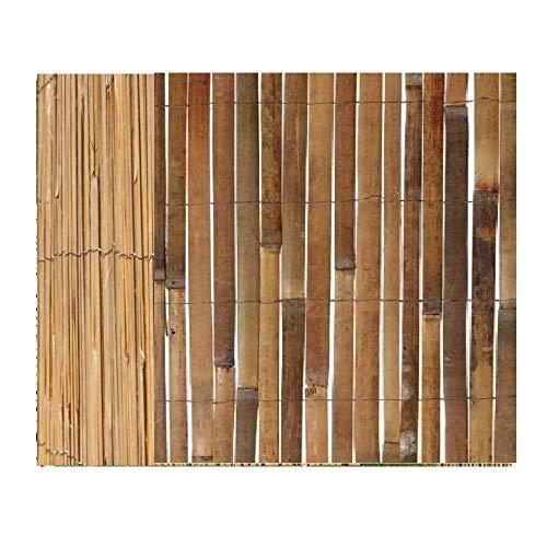 Z&Q BROS LTD Valla de bambú natural dividida al aire libre, valla de jardín, 2 tamaños, panel de privacidad, divisor, balcón, protección contra el viento y el sol (1 x 4 m - 3 pies x 13 pies)