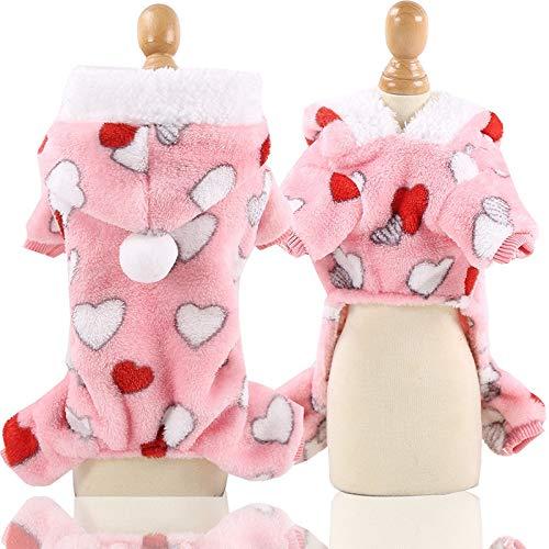 MUzoo Weiche warme Haustier Hund Jumpsuits Kleidung für Hunde Pyjamas Fleece Haustierhundkleidung Für Hunde Manteljacke Chihuahua Yorkshire Ropa Perro (Color : 13, Größe : L 3 4.2KG)