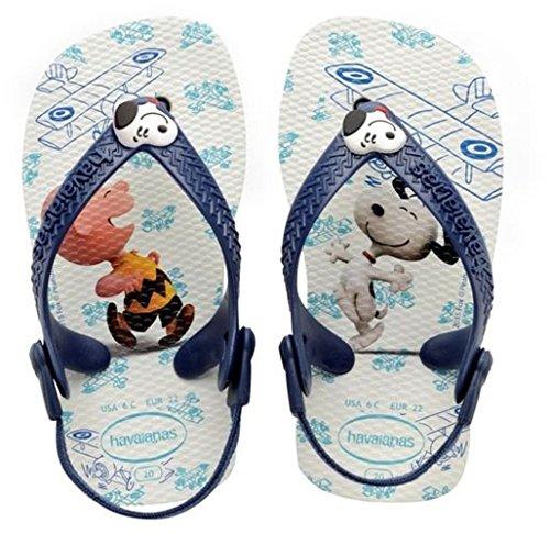 Havaianas Baby Jungen Snoopy Lauflernschuhe, Mehrfarbig (white/navy Blue 0052), 22 EU