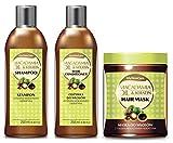 Macadamia Tratamiento Capilar Set: orgánicos Macadamia Oil & Acondicionador de queratina Hair &–Champú para pelo máscara–Infused con ingredientes naturales–libre de SLS, parabenos y tintes