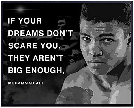 Muhammad Ali Poster Motivational Sports Quote Wall Art Decor for Home Office Gym Man Cave Bedroom product image