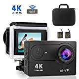 4K WiFi Action-Kamera, Volador Ultra HD 12MP DV Camcorder, 98 Fuß Wasserdichte Sport-Kamera, 170...