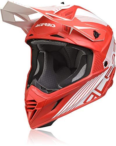 Acerbis X-Track Casco Motocross Rosso/Bianco M (57/58)