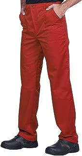 Men/'s Work Pants Cargo Pocket Charcoal Industrial Uniform Elastic Waist REED