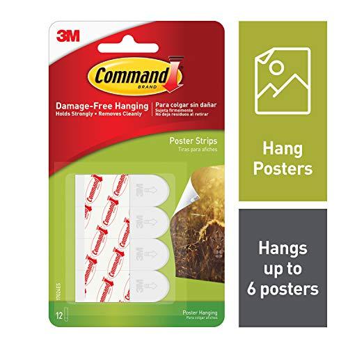Command Poster-Streifen selbstklebend 46x16mm 1 Paket mit 12 Streifen