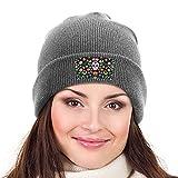 SSMEILI Unisex 3D impreso colorido cráneo gorrito gorrita gorrita tejida sombreros