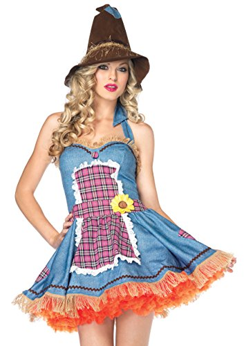 Fantasia Espantalha Colorida Vestido Chapéu M/G - Leg Avenue