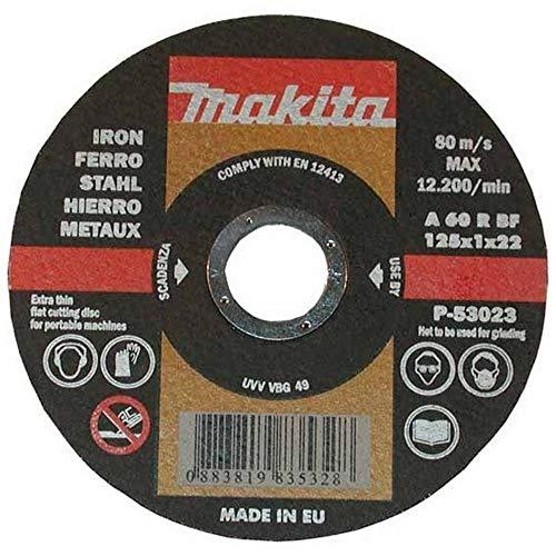 Makita P-53017 P-53017-Disco abrasivo extrafino para Corte de Metal 115x22,23x1,6 mm (Pack 10 ud.), Nero