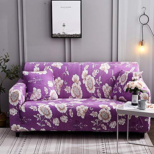 ASCV Fundas de sofá elásticas para Sala de Estar Funda elástica Funda de sofá seccional Funda de sillón en Forma de L A7 4 plazas