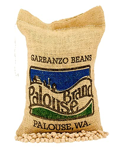 Garbanzo Beans • Chickpeas • 100% Desiccant Free • 5 lbs • Non-GMO Project Verified • Kosher Parve • USA Grown • Field Traced • Burlap Bag